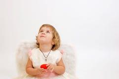 Poca ragazza di angelo Fotografie Stock