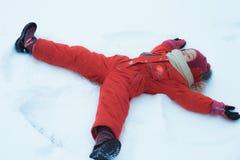 Poca ragazza di inverno Fotografie Stock Libere da Diritti