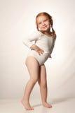 Poca ragazza divertente di balletto immagine stock libera da diritti