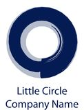 Poca rueda de la marca del logotipo de la compañía del círculo diseñó símbolo del ejemplo del vector fotografía de archivo libre de regalías