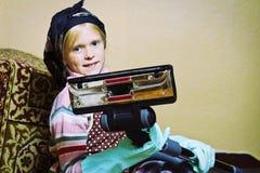 Poca señora de la limpieza Foto de archivo libre de regalías