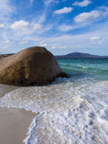 Poca spiaggia Immagine Stock