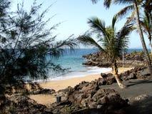 Poca spiaggia di Puerto del Carmen Fotografia Stock Libera da Diritti