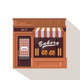 Poca tienda de la panadería Foto de archivo