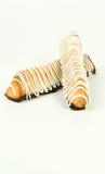 Poca torta del marzapane per il nuovo anno 2011 Fotografie Stock