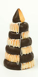 Poca torta del mazapán por Año Nuevo Imagenes de archivo