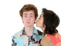 pocałunek policzka Fotografia Royalty Free