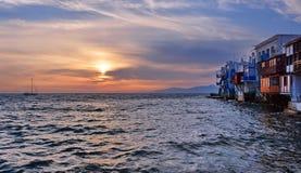 Poca Venecia, Mykonos Imagenes de archivo