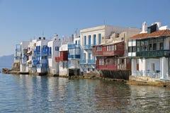 Poca Venecia, Mykonos, Grecia Foto de archivo libre de regalías
