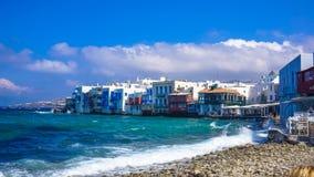 Poca Venezia di Mykonos Immagine Stock