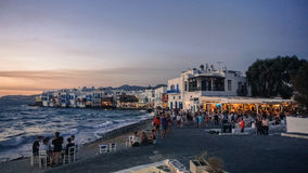 Poca Venezia di Mykonos Immagini Stock