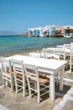 Poca Venezia in Mykonos, Grecia Fotografia Stock