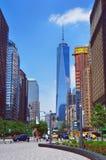 Poca vista ad ovest della via a Freedom Tower Fotografie Stock