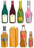 Pocas botellas Imagenes de archivo