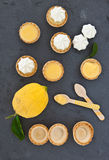 Pocas empanadas del limón del merengue Fotografía de archivo