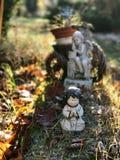 Pocas esculturas del jardín Fotografía de archivo