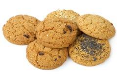 Pocas galletas de harina de avena Fotografía de archivo libre de regalías