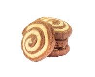 Pocas galletas espirales Fotos de archivo