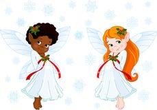Pocas hadas de la Navidad libre illustration