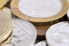 Pocas monedas Fotos de archivo libres de regalías