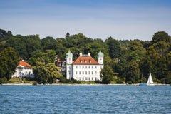 Pocci slott på Starnberg laken royaltyfria foton
