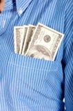 Pocekt money Royalty Free Stock Images