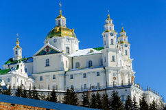 Pochaev lavra. Dormition Cathedral. Royalty Free Stock Photo