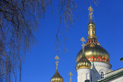 Pochaev's Lavra Cupola at nice winter day Royalty Free Stock Photos