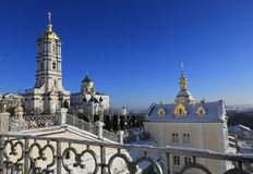 Pochaev's Lavra at winter time Royalty Free Stock Images
