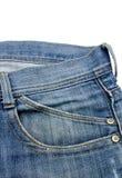 Poche avant avec une couture sur les blues-jean Images stock