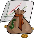 Poche avec l'argent et le graphique illustration libre de droits
