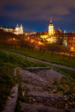 Poche chiese della città, Praga, CZ Immagine Stock Libera da Diritti