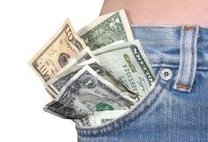 poche d'argent Images libres de droits
