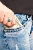 poche d'argent Photo libre de droits