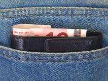 poche d'argent de jeans Photographie stock
