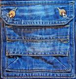 Poche de fantaisie de jeans Photos libres de droits