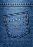 Poche de jeans illustration de vecteur