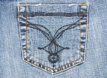 Poche de jeans Photographie stock
