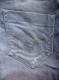 Poche de pantalons de jeans image stock