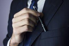 Poche de stylo d'homme Photos libres de droits