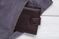 Poche et portefeuille de pantalon Image stock
