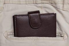 Poche et portefeuille de pantalon Photo stock