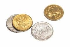 Poche piccole monete Fotografie Stock