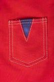 Poche rouge de textile de toile Images stock