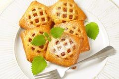 Poche torte dell'albicocca fotografie stock