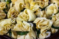 Poches bourrées de crêpes à l'oignon Image stock