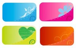 poches de cartes de visite professionnelle de visite Image libre de droits