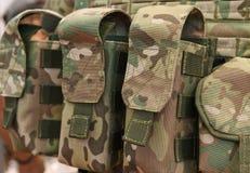 Poches pour le plan rapproché de munitions Images libres de droits
