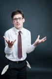 poches vides d'homme d'affaires dérangées Photographie stock
