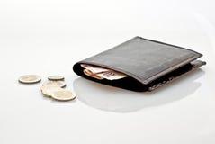 Pochette avec de l'argent Photo stock
